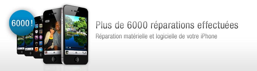 6000 réparations iphone